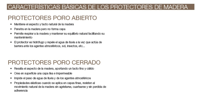 Características básicas madera